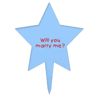 Will you marry me ? Apron Plate Napkin Cake Topper