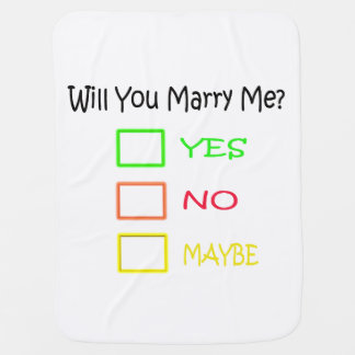 Will You Marry Me? Baby Blanket