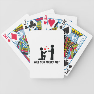 Will You Marry Me Bended Knee Man & Man Bicycle Playing Cards
