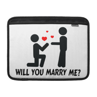 Will You Marry Me Bended Knee Man & Man MacBook Sleeve