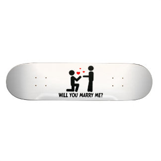 Will You Marry Me Bended Knee Man & Man Skateboard Deck