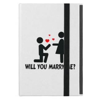 Will You Marry Me Bended Knee Man & Woman Case For iPad Mini