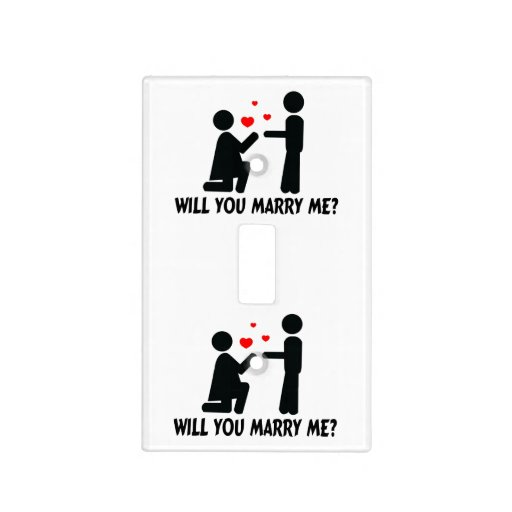 will you marry me bended knee woman  u0026 man light switch cover