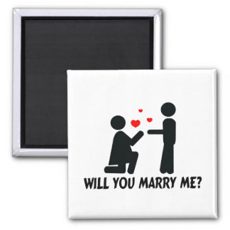 Will You Marry Me Bended Knee Woman & Man Refrigerator Magnets