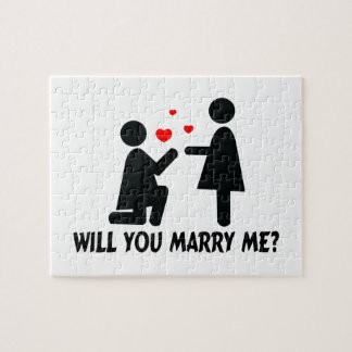 Will You Marry Me Bended Knee Woman & Woman Jigsaw Puzzle
