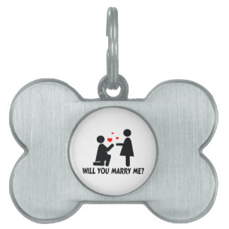 Will You Marry Me Bended Knee Woman & Woman Pet Name Tags