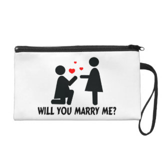 Will You Marry Me Bended Knee Woman & Woman Wristlet