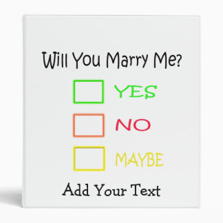 Will You Marry Me by Shirley Taylor 3 Ring Binder