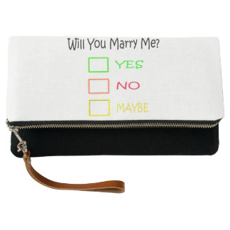 Will You Marry Me by Shirley Taylor Clutch