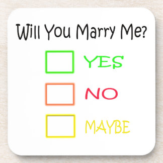 Will You Marry Me by Shirley Taylor Drink Coaster