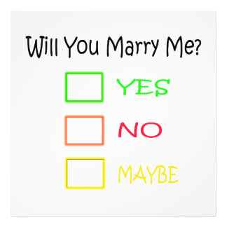 Will You Marry Me by Shirley Taylor Photo Print