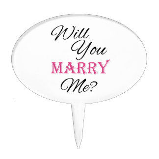Will You Marry Me? Cake Topper