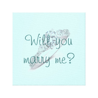 Will you marry me? canvas print