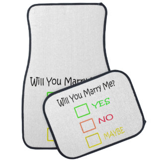 Will You Marry Me? Car Mat