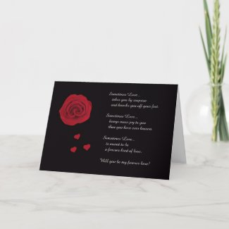Will You Marry Me? Card card