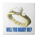 Will You Marry Me Ceramic Tile