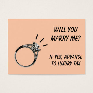 Will you Marry Me  Chance Card
