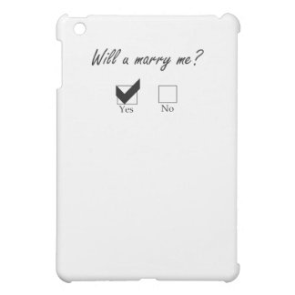 Will you marry me? Check Box Case For The iPad Mini