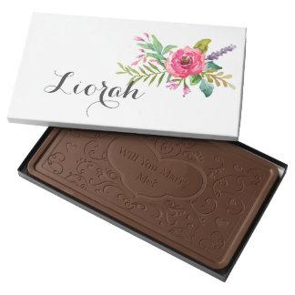 Will you Marry Me Chocolate Bar? 2 Pound Milk Chocolate Bar Box