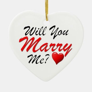 Will You Marry Me? Christmas Tree Ornaments