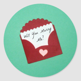 Will You Marry Me? Classic Round Sticker