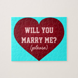 Will you marry me? crimson heart puzzle