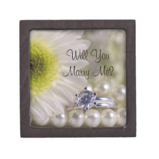 Will You Marry Me Daisy Engagement Ring Box