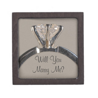 Will You Marry Me Diamond Engagement Ring Box