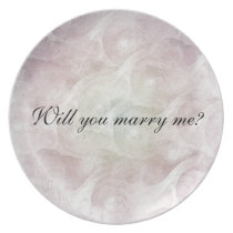 """Will you marry me?"" Dinner Plate"