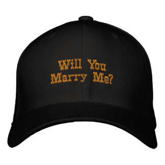 Will You Marry Me Embroidered Hat
