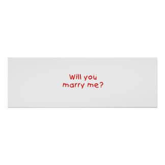 Will you marry me ? Gift Wrapper Magnet Pillow Pin Poster