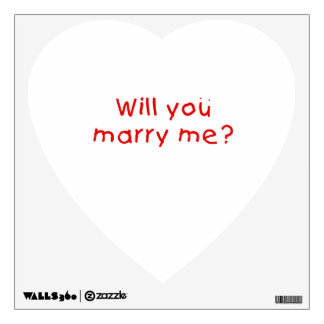Will you marry me ? Gift Wrapper Magnet Pillow Pin Room Graphic