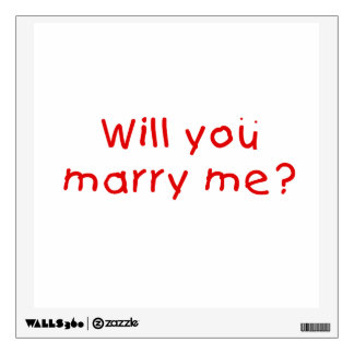 Will you marry me ? Gift Wrapper Magnet Pillow Pin Wall Sticker