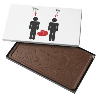 Will You Marry Me - Grooms Milk Chocolate Bar