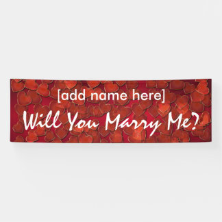 Will You Marry Me? hearts banner