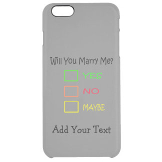 Will You Marry Me? Uncommon Clearly™ Deflector iPhone 6 Plus Case
