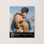 "Will You Marry Me? Jigsaw Puzzle<br><div class=""desc"">Customize this puzzle with your favorite photo,  a great way to ask ""Will You Marry Me?""</div>"
