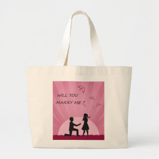 WILL YOU MARRY ME? LARGE TOTE BAG