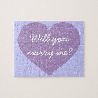 Will you Marry Me? lavender heart Jigsaw Puzzle