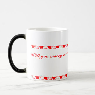 Will you marry me? (left hand) magic mug