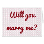 "[ Thumbnail: ""Will You Marry Me?"" + Lots of Small Heart Shapes Card ]"