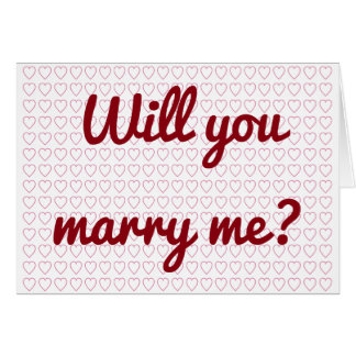 """""""Will you marry me?"""" + Lots of Small Heart Shapes Card"""