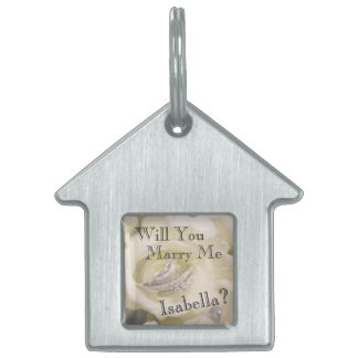 Will You Marry Me? Marriage Proposal Dog Tag Pet ID Tag