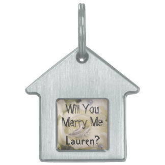 Will You Marry Me? Marriage Proposal Dog Tag Pet ID Tags