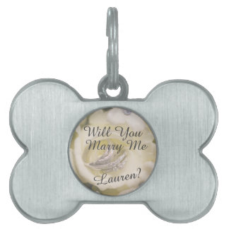 Will You Marry Me? Marriage Proposal Dog Tag Pet Name Tags