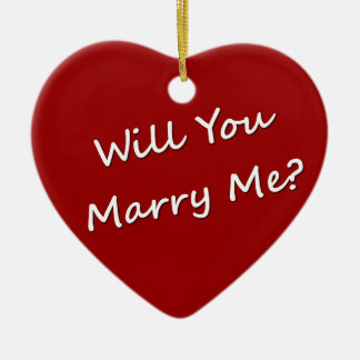 Will You Marry Me? Marriage Proposal Engagement Christmas Tree Ornament