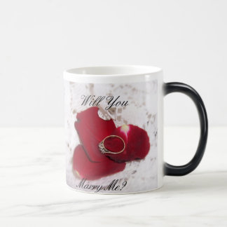 Will You Marry Me Mophing Mug Rose Petals