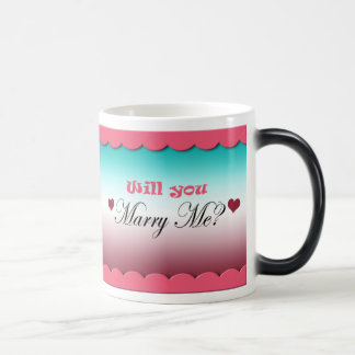 Will You Marry Me? Morphing Mug