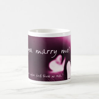 Will You Marry Me Morphing Mug in dark pink