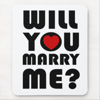 Will you marry me mouse pad